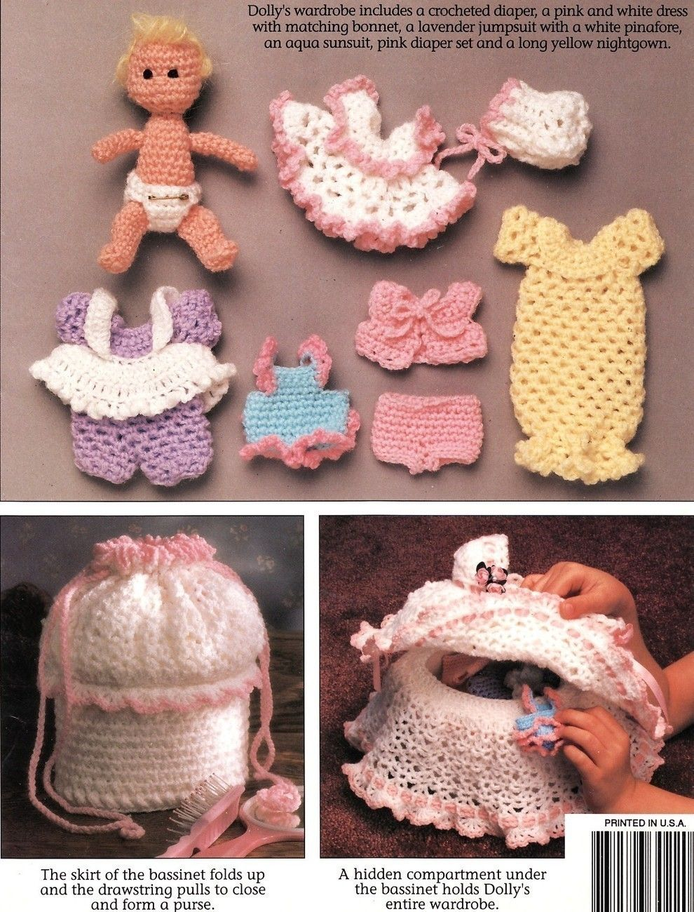 Dolly Tote Along Bassinet Crochet Patterns Book Annies Attic Toys ...