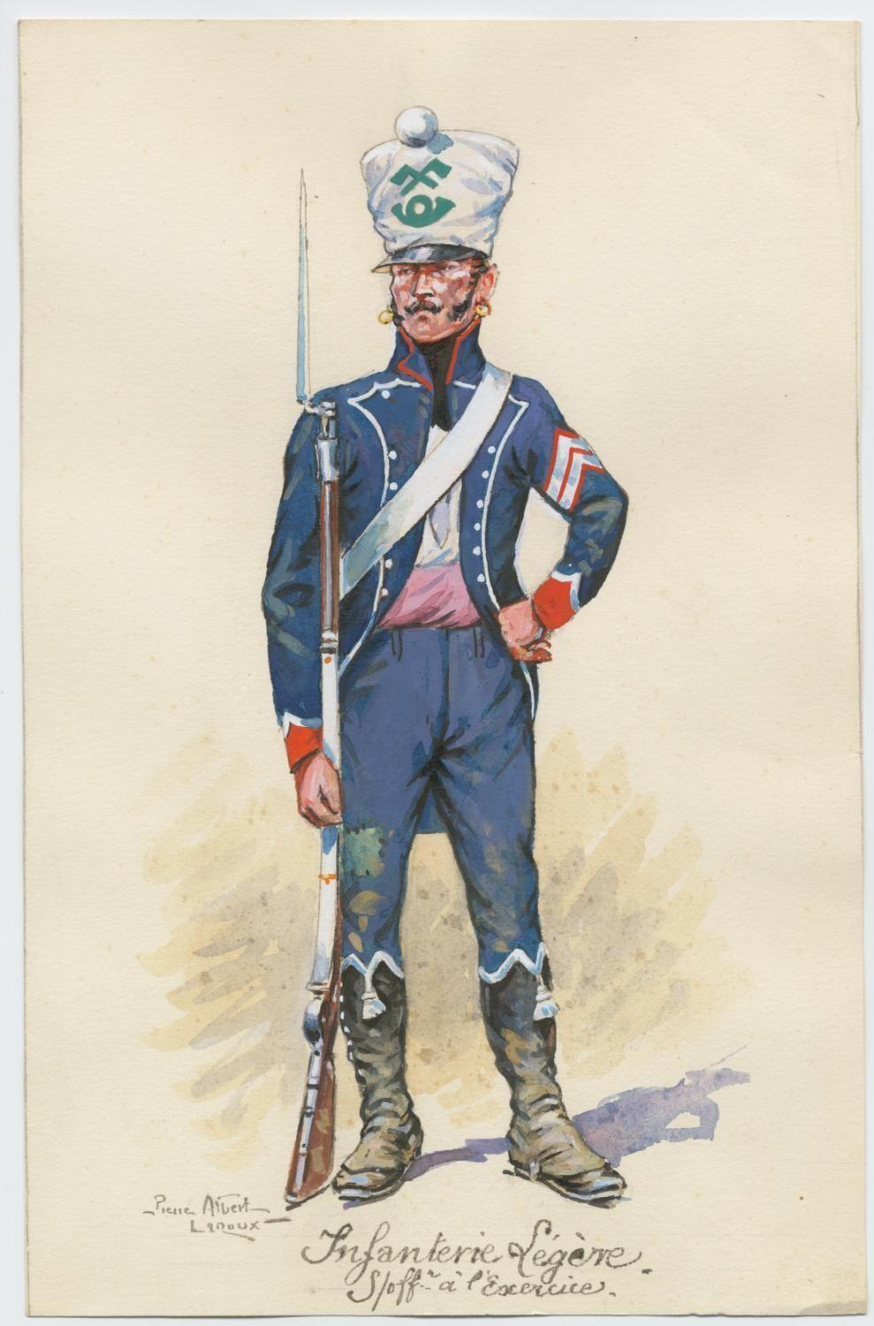 Sottufficiale di un rgt. di fanteria leggera