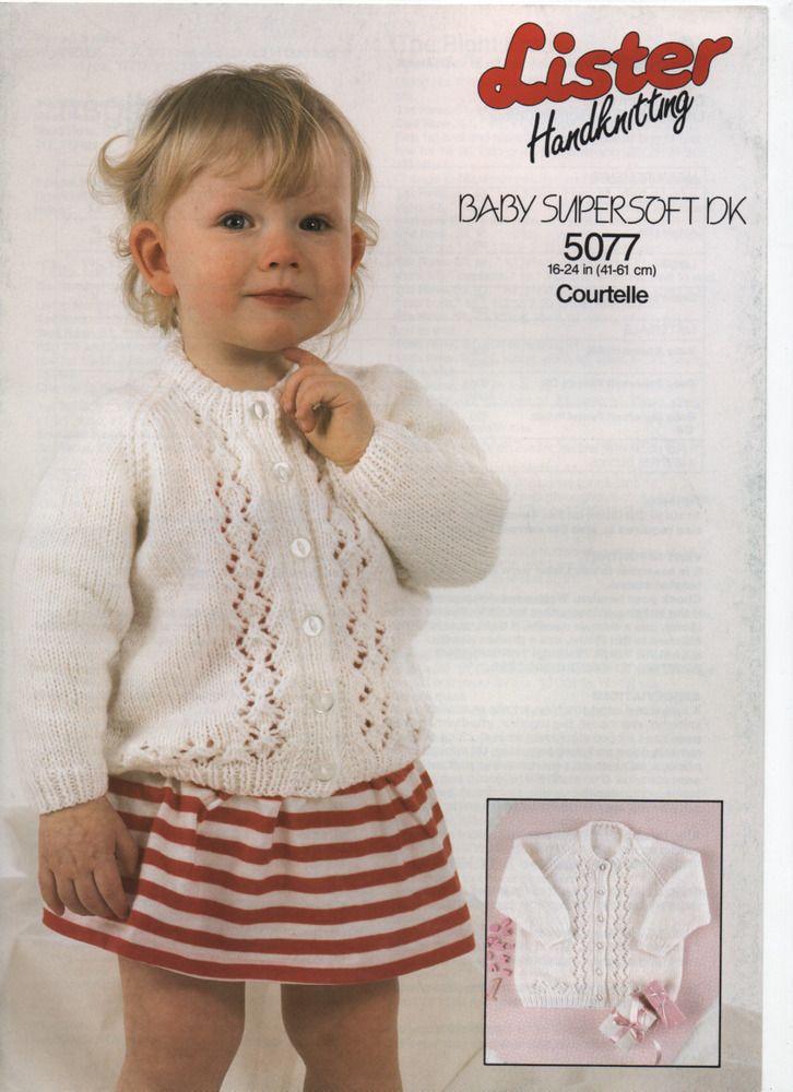 LISTER DK girl's fancyknit cardigan KNITTING PATTERN ...