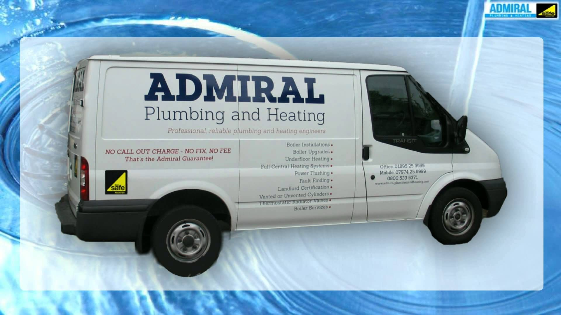 Admiral Plumbing and Heating are fully qualified and insured Gas ...