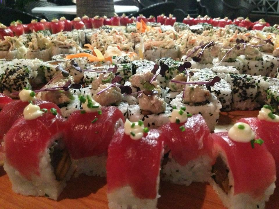 Incredible sushi platter created by Exquisite Caterers for a real event. For more from this Recommended Vendor go to http://www.exquisitecaterers.com/. #ExquisiteCaterersNJ, #sushiplatter, #XplosiveEntertainment.