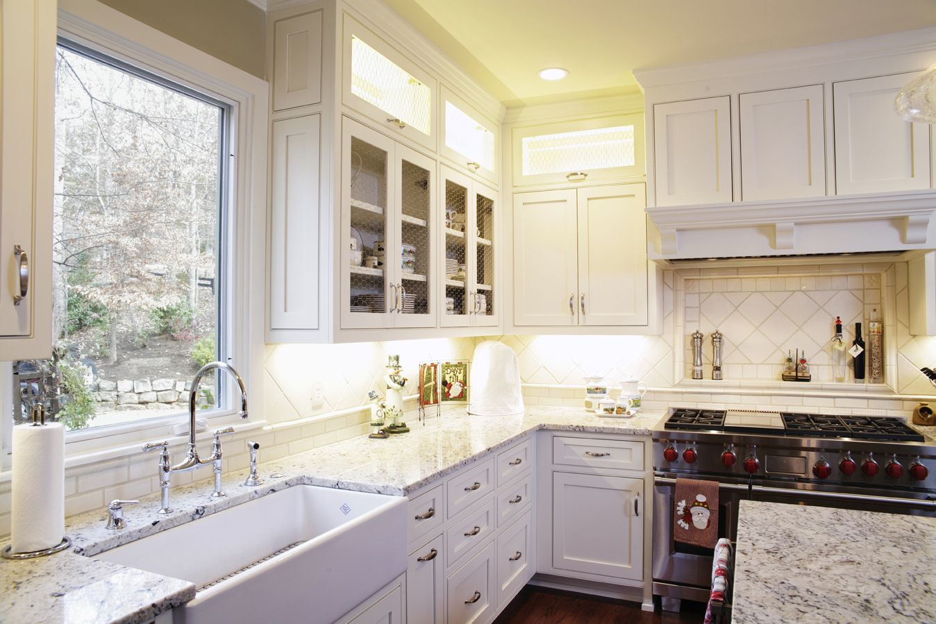 These are custom cabinets created and installed by ...