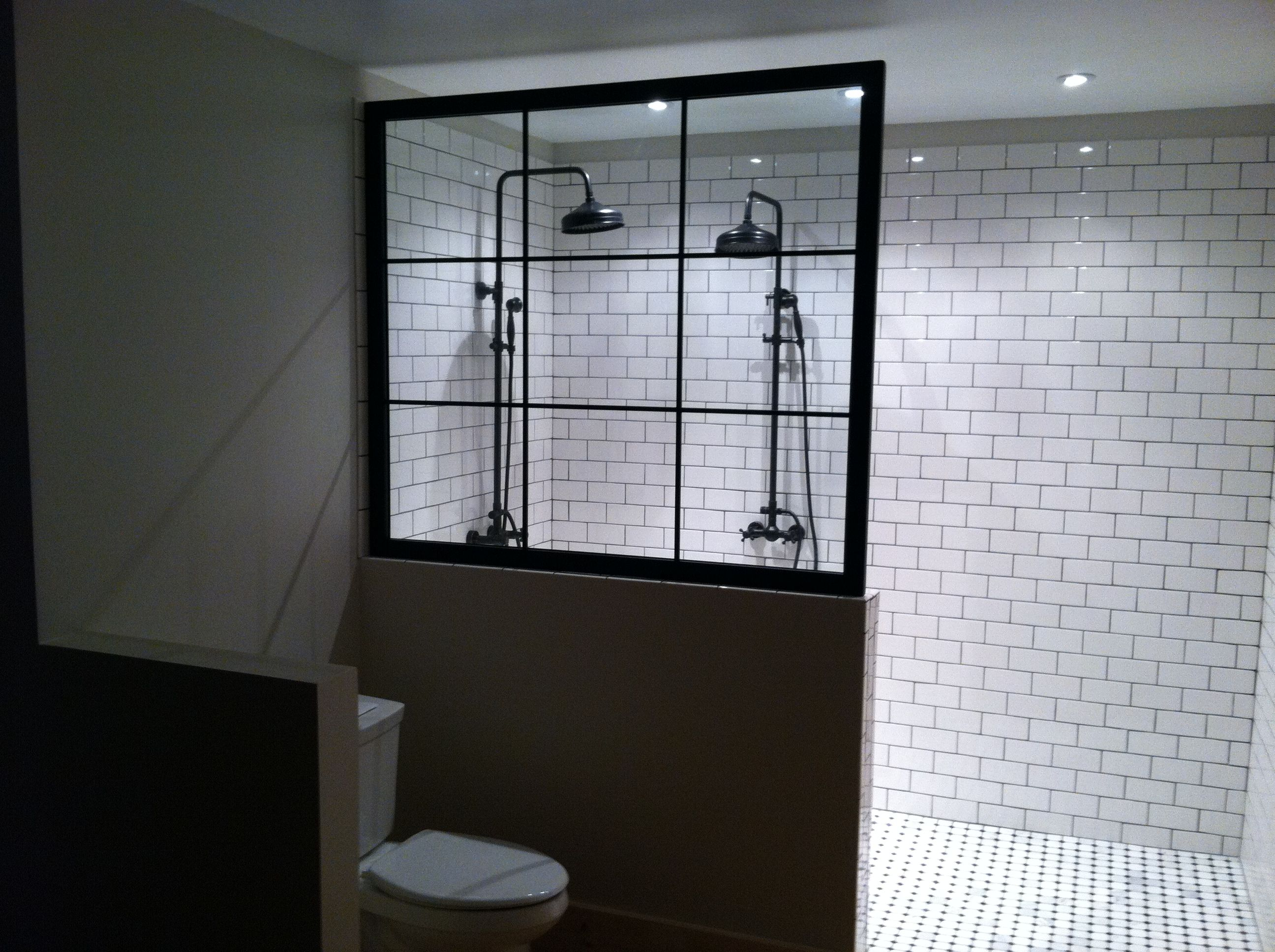 Bathroom Fixtures Warehouse custom shower warehouse window style glass, subway tile, and