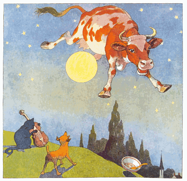 Hey Diddle Diddle, the Cat and the Fiddle, the Cow Jumped Over the Moon