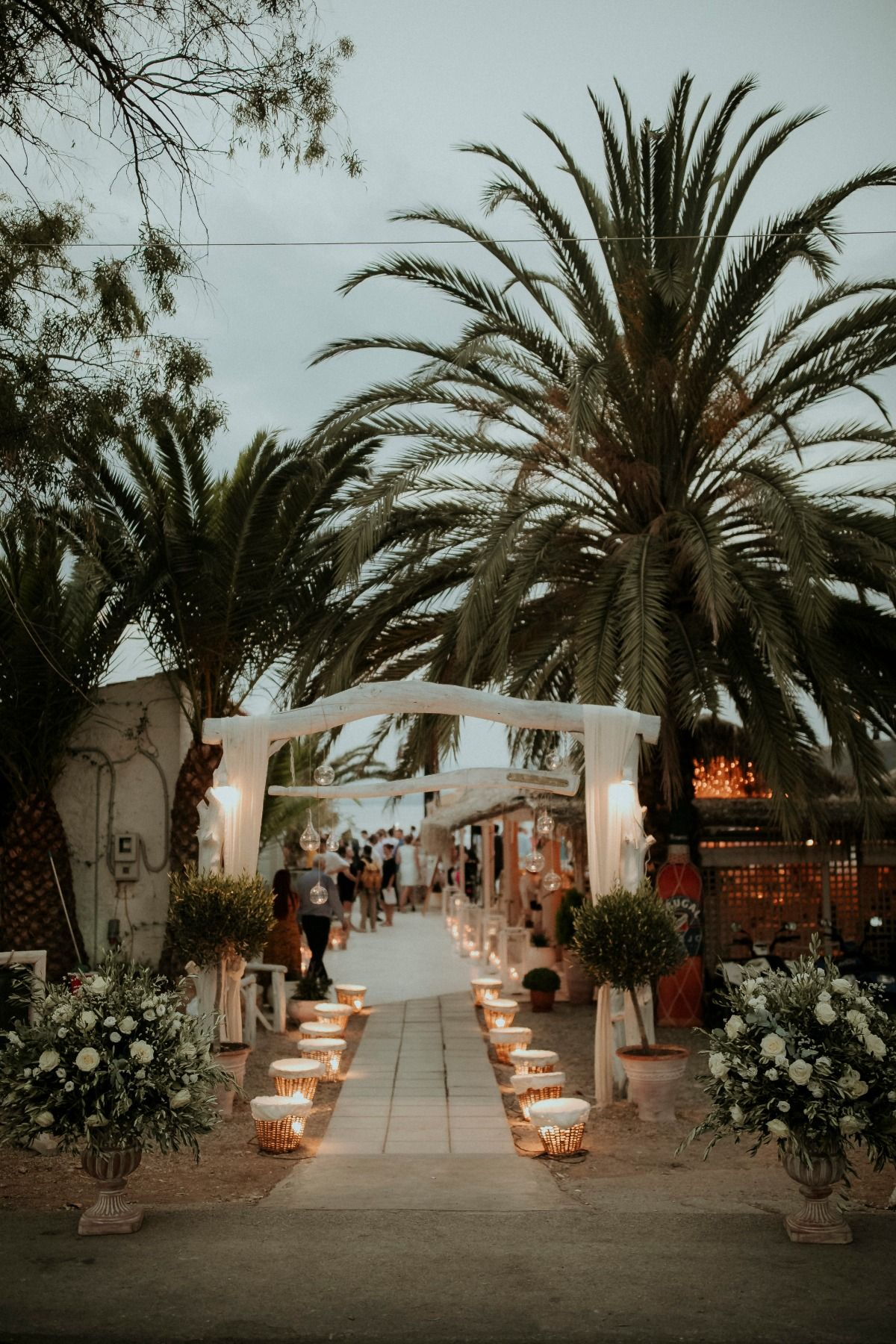 Traditional Greek Island Wedding in Navy and White | Beach ...