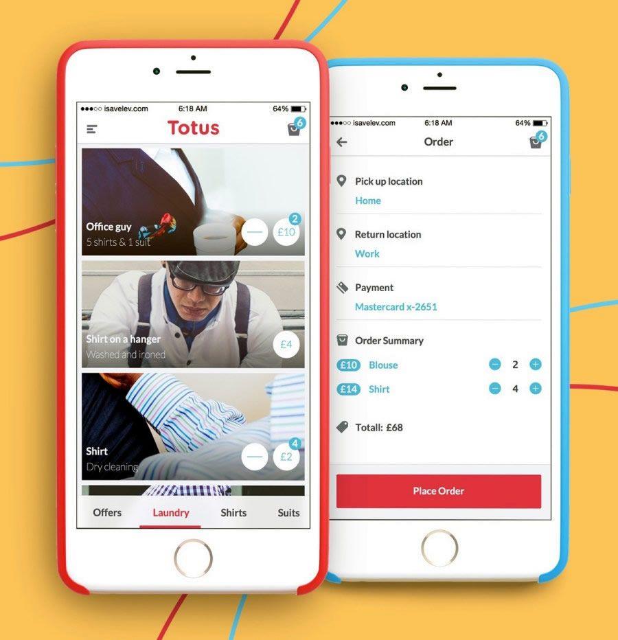 A photo of Totus app, Best Mobile App UI Designs of 2016 | Great ...
