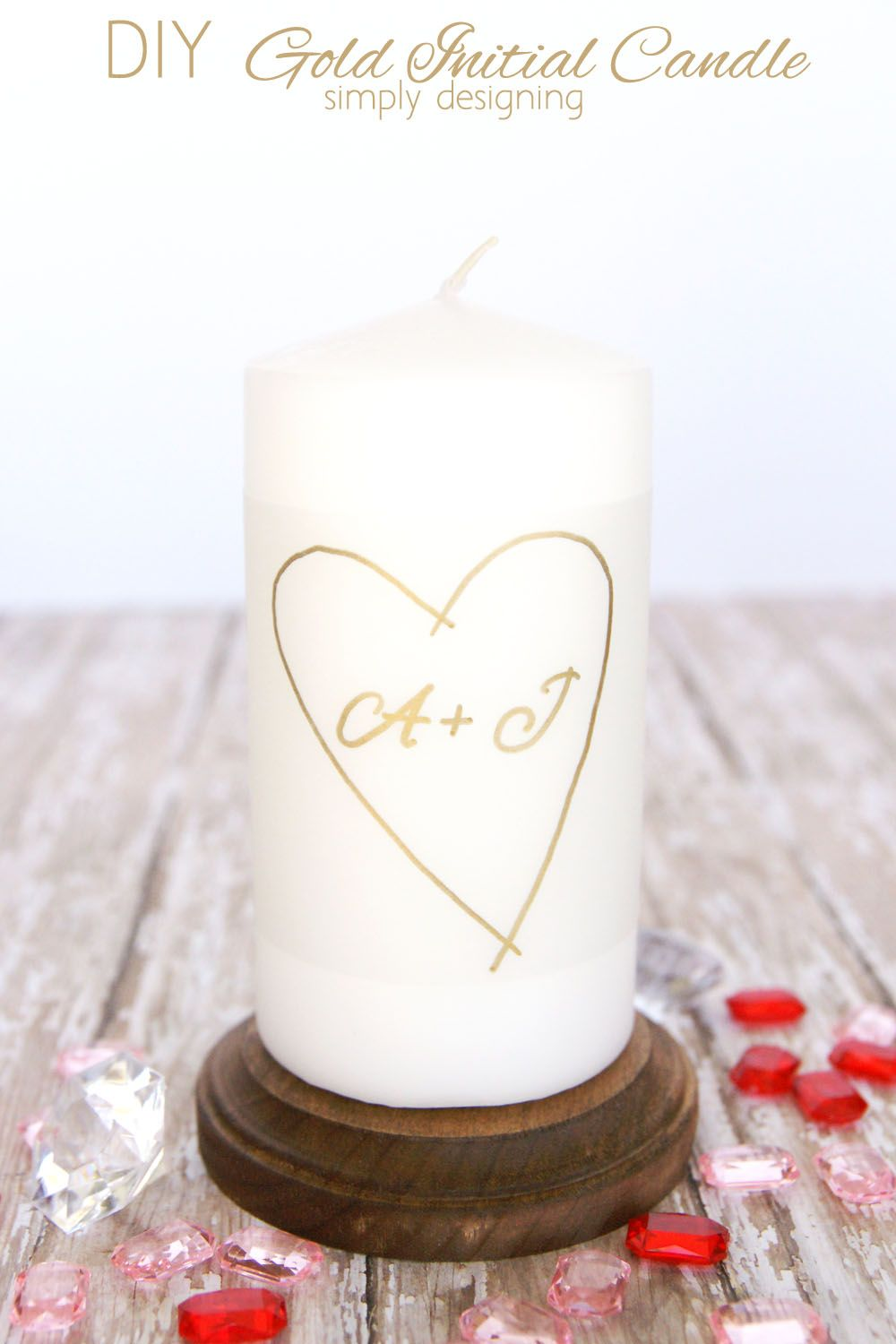 DIY Gold Initial Candle | Simple crafts, Initials and Anniversaries
