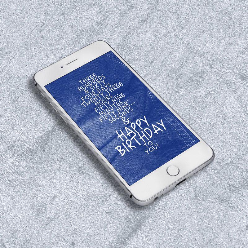 Birthday card for him birthday countdown denim digital instant birthday greeting card birthday countdown wishes denim script hand writing mobile m4hsunfo