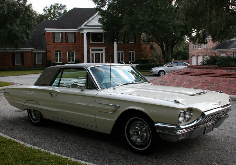 1965 Thunderbird Special Landau Edition Which Comes With Original Beige Landau Top And Two Tone White Emberglo Interio Ford Thunderbird Car Ford Vintage Cars