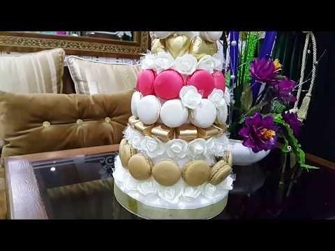 تجهيزات الخطوبة الحلقة 2 تزيين هرم الماكارون والشكولاطة اجواء الخطوبة Youtube Birthday Cake Desserts Cake