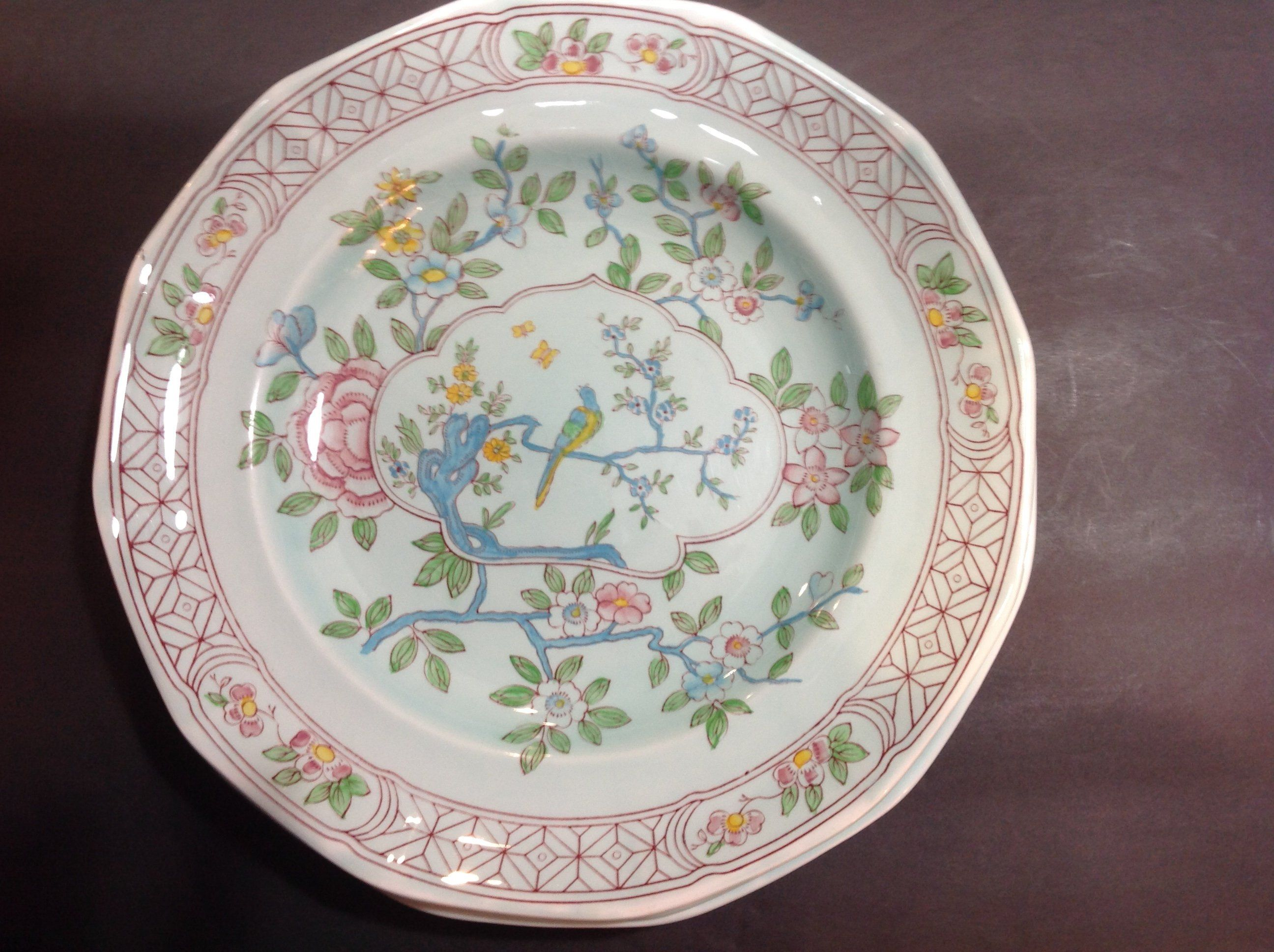 Adams Calyx Ware 10 Dinner Plate Singapore Bird Made In England By Soigneeyou On Etsy Dinner Plates Plates 10 Things