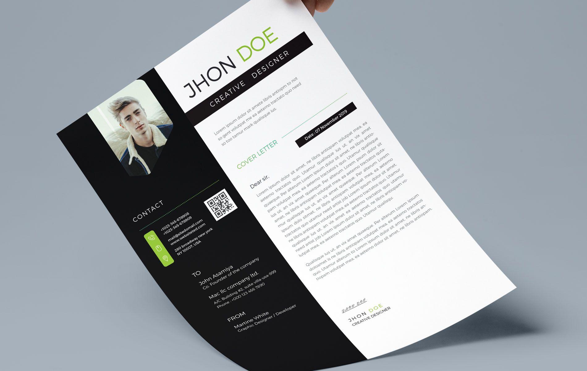 Jhon Doe- Creative Resume Template | Packaging Design ...
