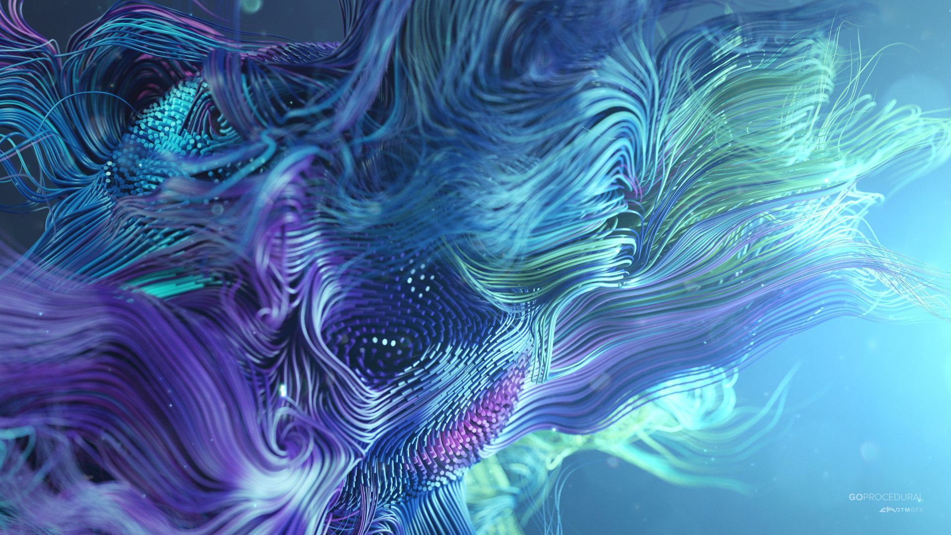 Wallpaper Waves Lines Abstract 3d Colorful 4k Abstract