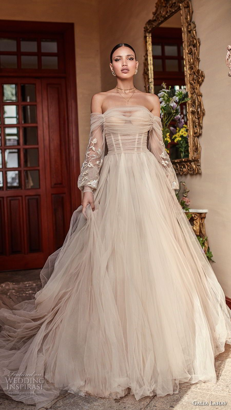 wedding dress ruche 2018