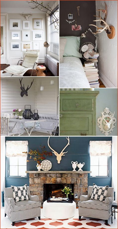 Pepper Design Blog Living Room Home Cabin Decor Home Decor Deer antler living room decor