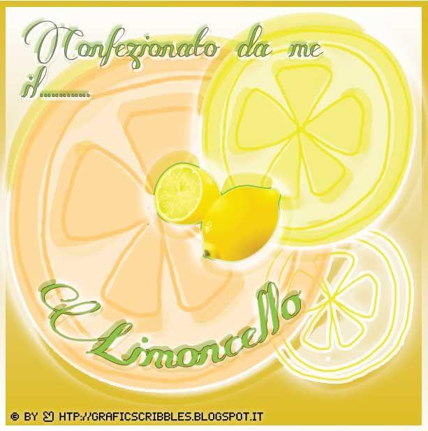 Favori Etichette per Limoncello .pdf | gina2 | Pinterest | Etichette e  LO45