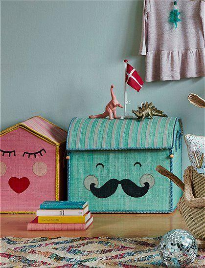 Hurra die neue Kollektion ist da! Spielzeugkorb Smiling Moustache ...