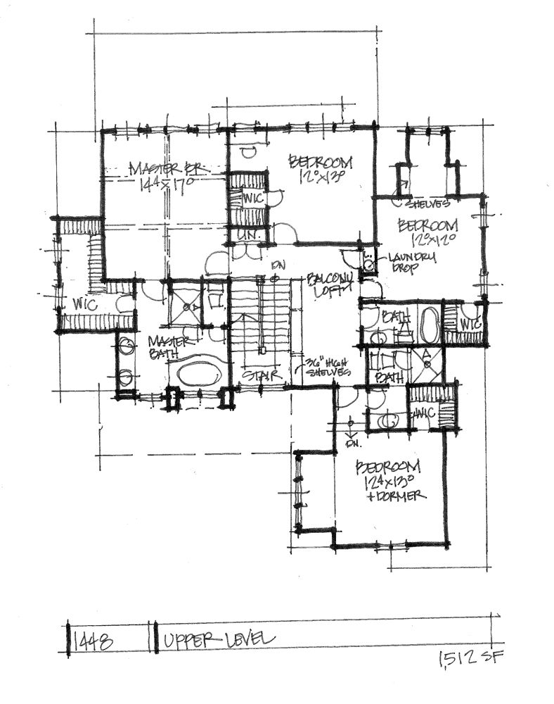 New Home Design on the Drawing Board 1448 is a family-friendly design with all bedrooms upstairs and is ideal for narrow lots! See more details on our house plans blog! #WeDesignDreams