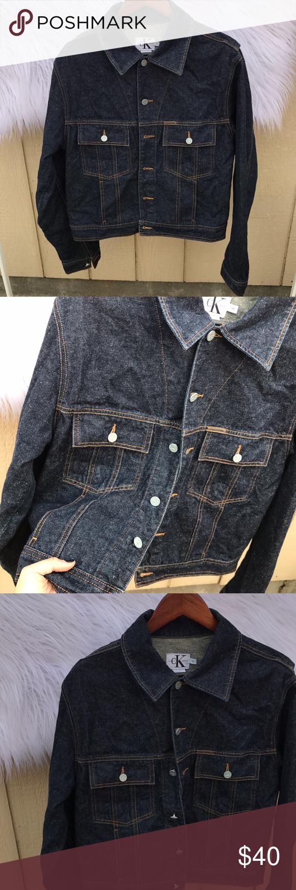 CALVIN KLEIN SZ M DENIM JACKET SUPER CUTE Almost new :) Calvin Klein Jackets & Coats