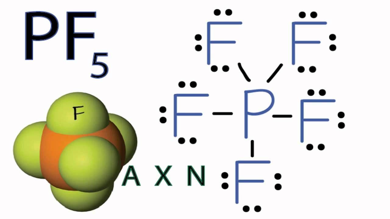pf5 molecular geometry shape and bond angles chemistry