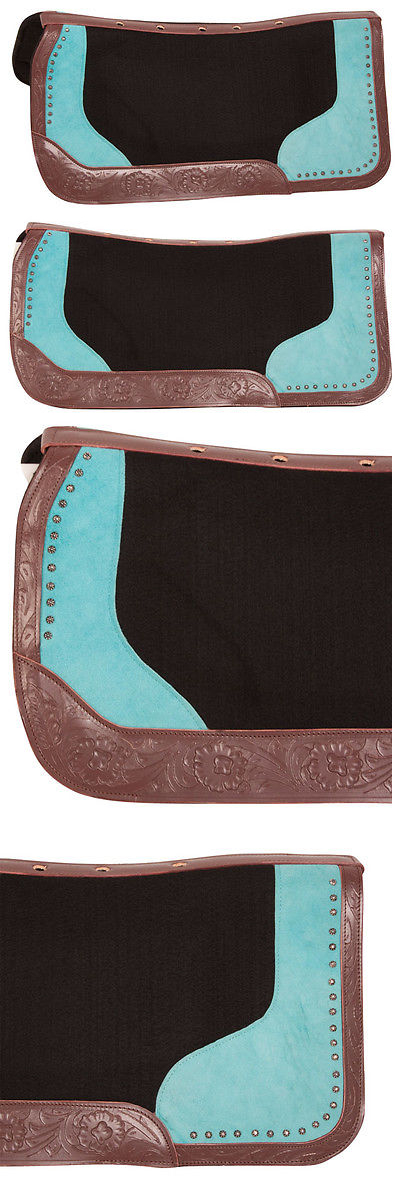 Saddle Pads 47308: Premium Western Saddle Blanket Pad Contour Wool Felt Shock Therapeutic Pad -> BUY IT NOW ONLY: $66.49 on eBay!