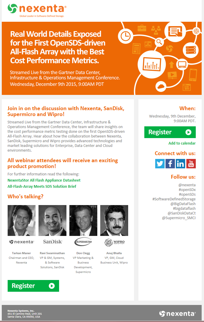 Nexenta Email Invitation For Live Webinar Webinar Invitation Email Invitation Email Invitations Templates