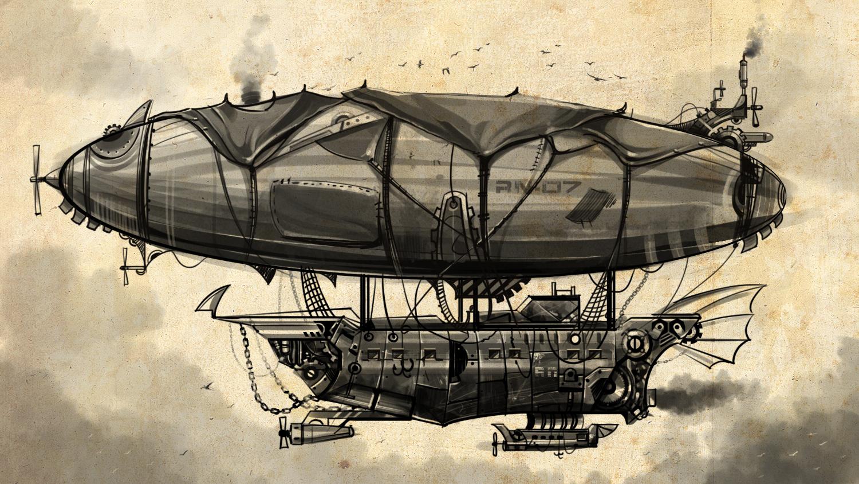 zeppelin steampunk airship