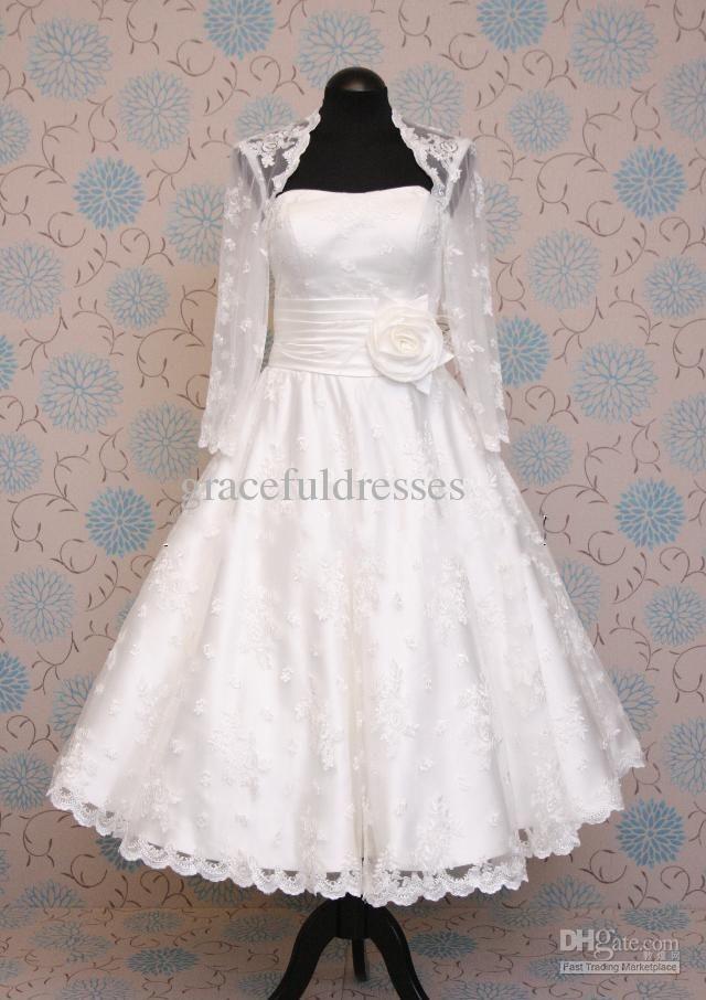 fe195f67e876 UK short wedding dresses,vintage inspired wedding dress 1930s 1920s,50s 60s tea  knee length   future wedding;) in 2019   Tea length wedding dress, ...