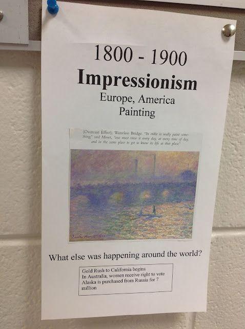 Art History Timeline Mrs. Knight's Smartest Artists