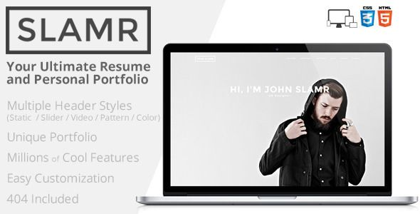 SLAMR - Ultimate Resume and Personal Portfolio  SLAMR - Ultimate - portfolio for resume