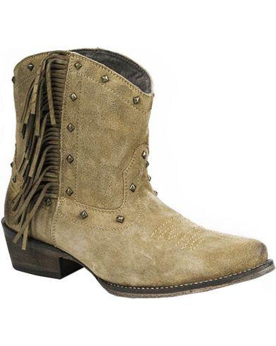 29ebd7f7973 Roper Women's Fringe Boots - Snip Toe   Fashion   Fringe ankle boots ...