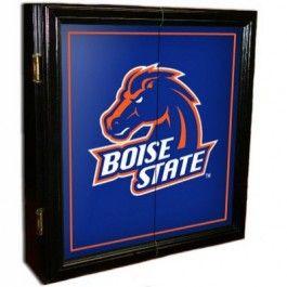 http www sportshopsusa com sports fan products sfp 7515 bsu boise state broncos black framed mvp dartboard cabinet and boise state boise state broncos boise pinterest