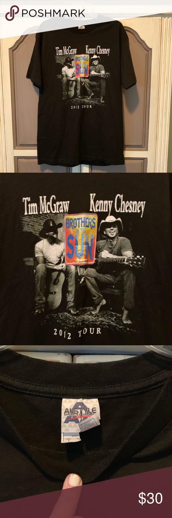 Tim McGraw Kenny Chesney Concert Tee sz L Tim McGraw Kenny