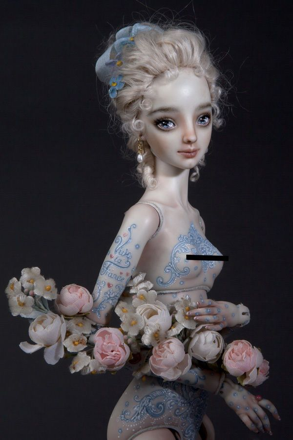 Madame De Pompadour Ooak Porcelain Enchanted Doll Marina Bychkova