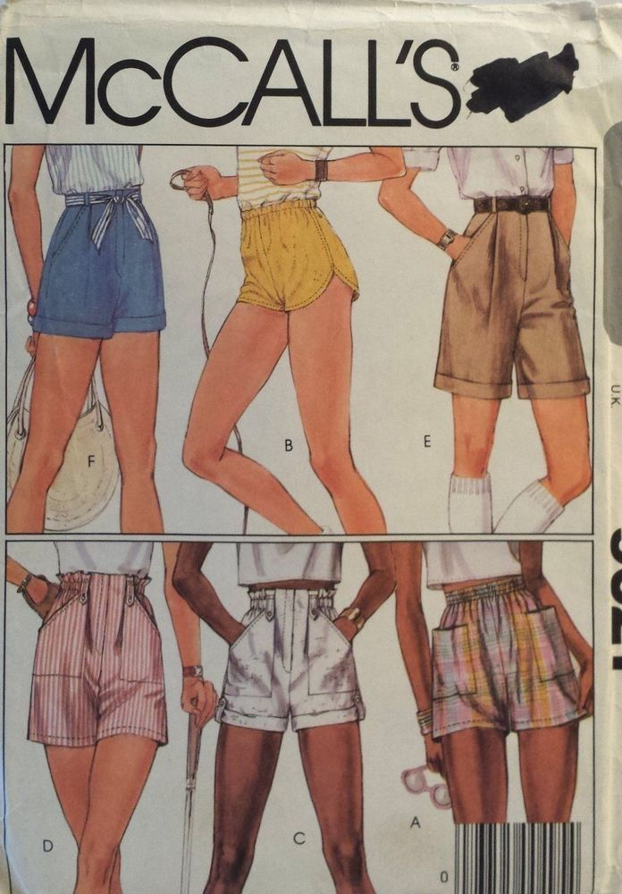 McCalls Pattern 60 60's High Waisted Shorts Sewing Size 60 Impressive High Waisted Shorts Pattern
