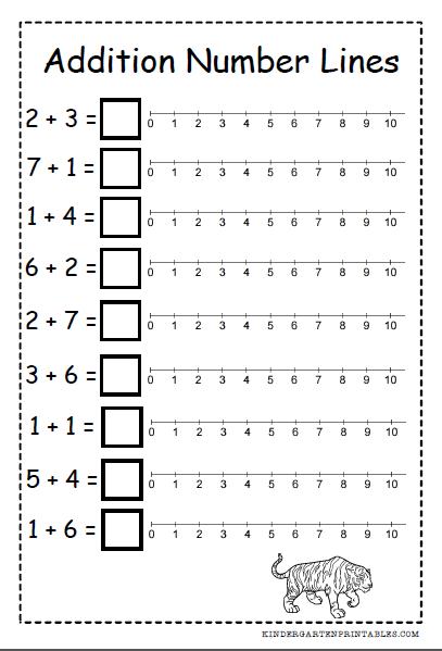 number line addition worksheets free printables number line addition worksheets mathematics. Black Bedroom Furniture Sets. Home Design Ideas
