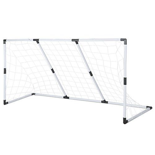 buy now   £22.99   Perfect for shooting practice, this goal is great for football games in the garden or parkMade from strong high grade plastic. No screws required.Includes Football  ...Read More