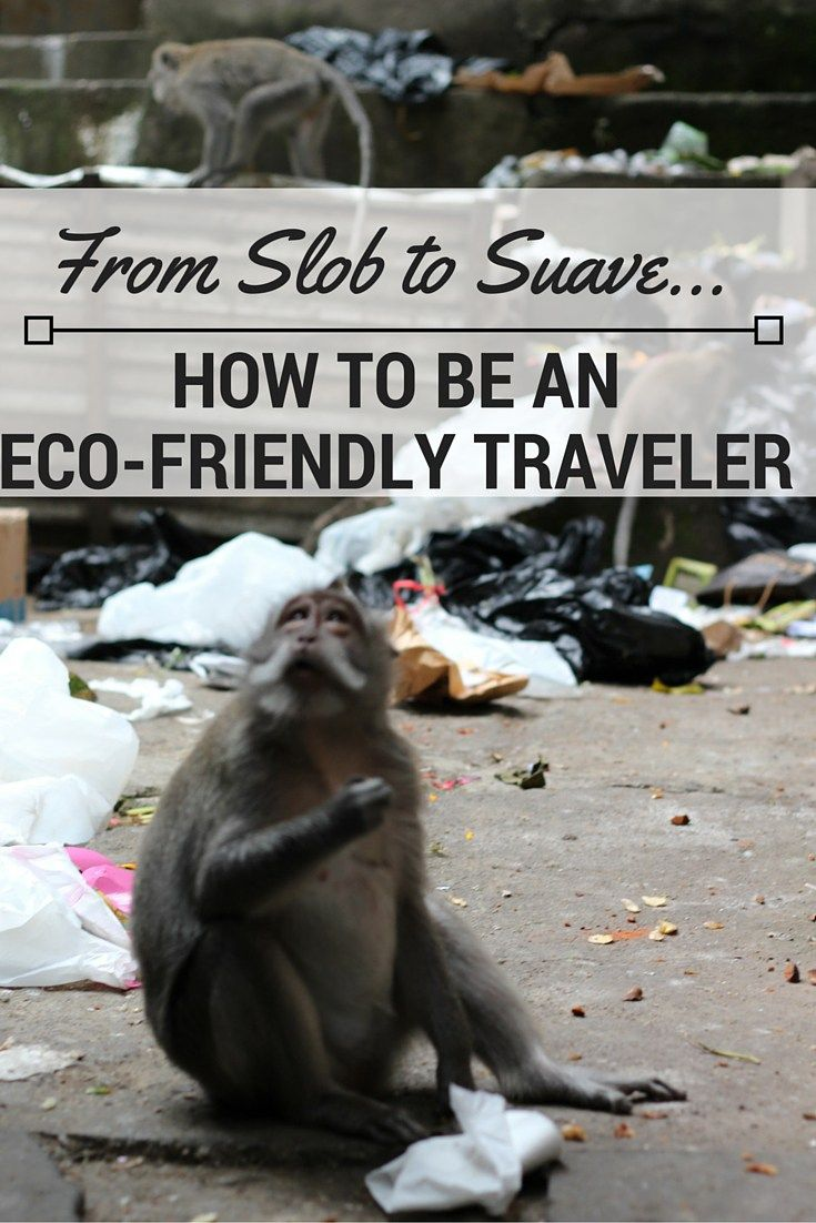 How to be an eco friendly and green traveler - tips for traveling sustainably.