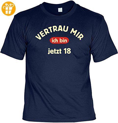 Geburtstag Sprüche Tshirt Vertrau mir - ich bin jetzt 18 . navy-blau -  Shirts