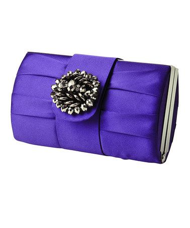 Take a look at this Violet Jewel Tab Clutch by Jessica McClintock on #zulily today!