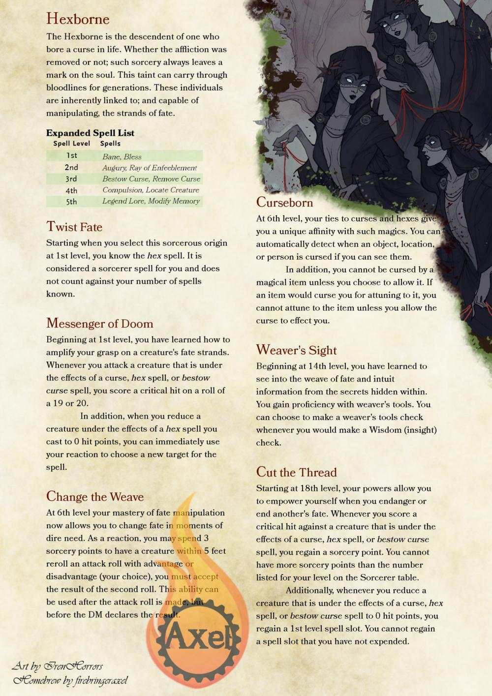 Hexborne | DnD Ideas | Dungeons, dragons homebrew, Dnd