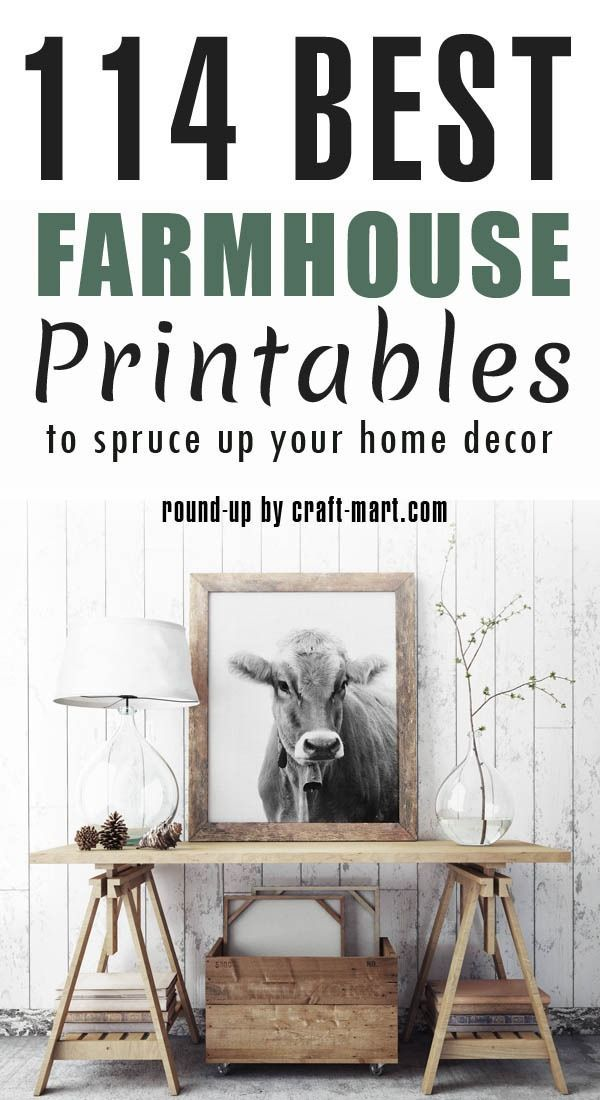 100+ Free Farmhouse Printables Fixer-Upper Style