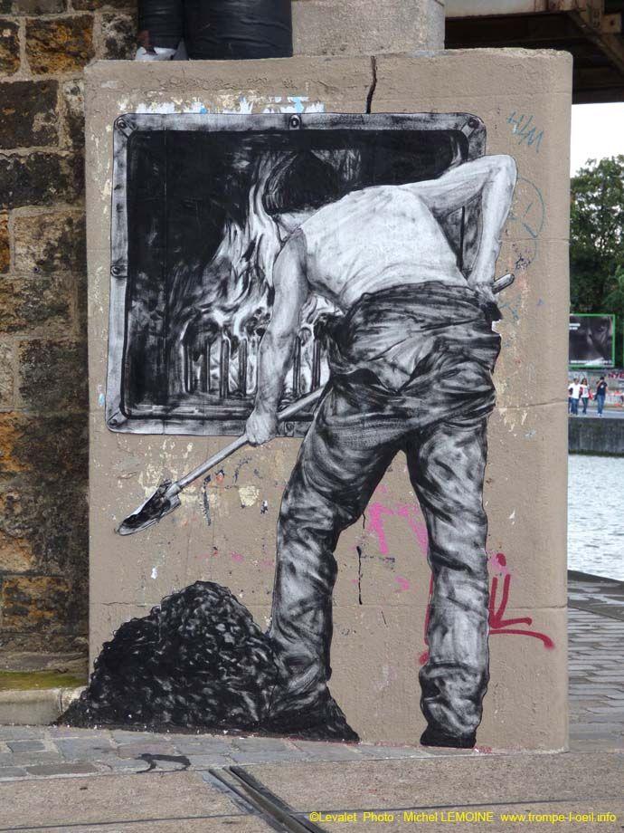 Au charbon, Levalet, Paris, 2014