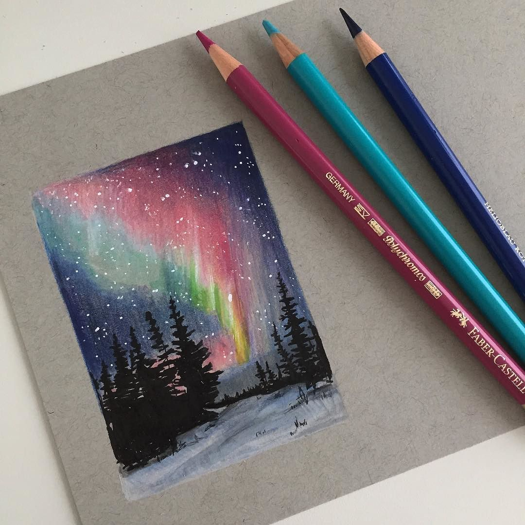 I Would Love To See The Northern Lights One Day Art Drawing Pen