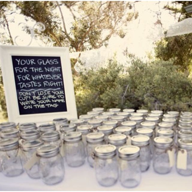 I Always Lose My Cup Mason Jar Entertaining Idea Your Gl For The Night Wver Tastes Right Tag Attached Guests To Write Their Names On
