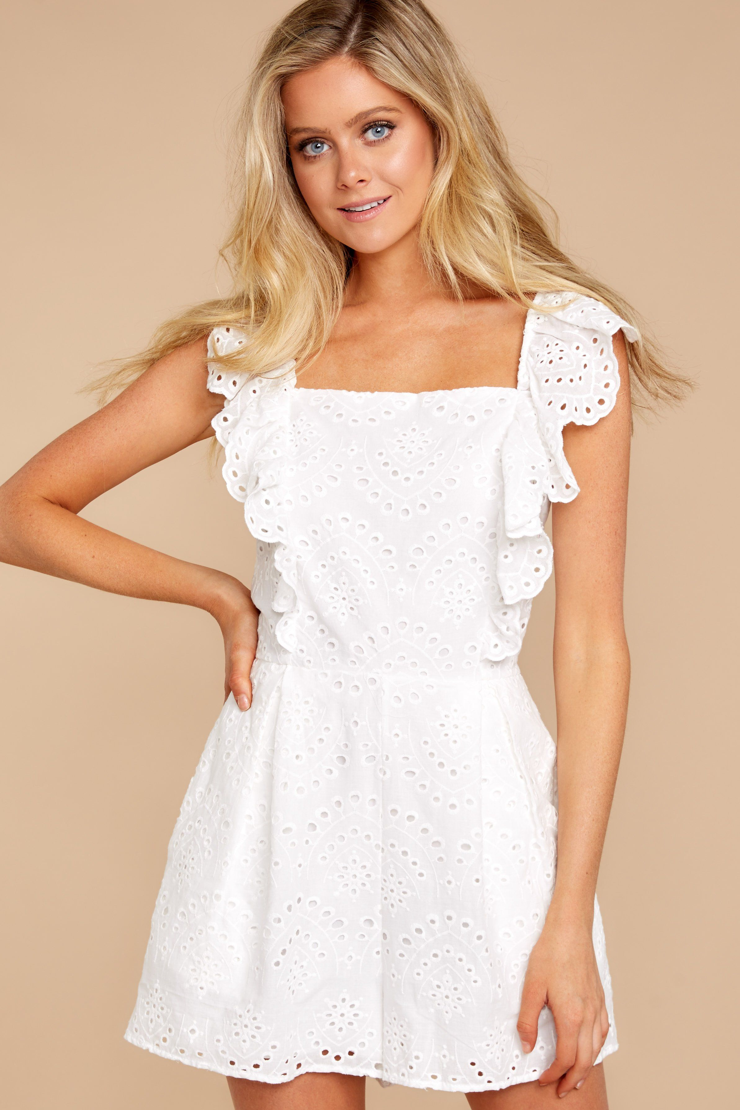 Sweetest Touch White Eyelet Romper