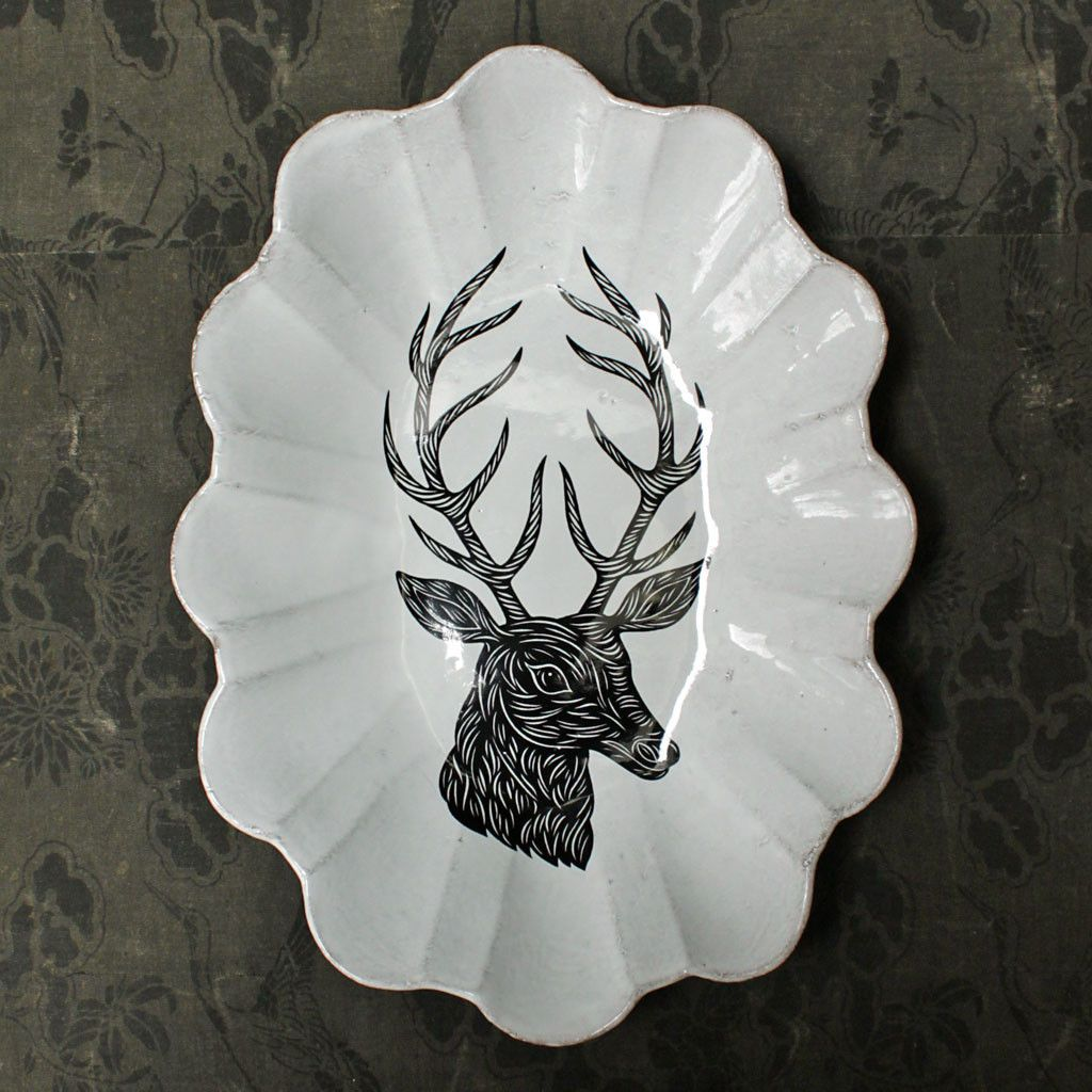 PATCH NYC - HOME DECOR - LARGE DEER BOWL {PLTPTC03}
