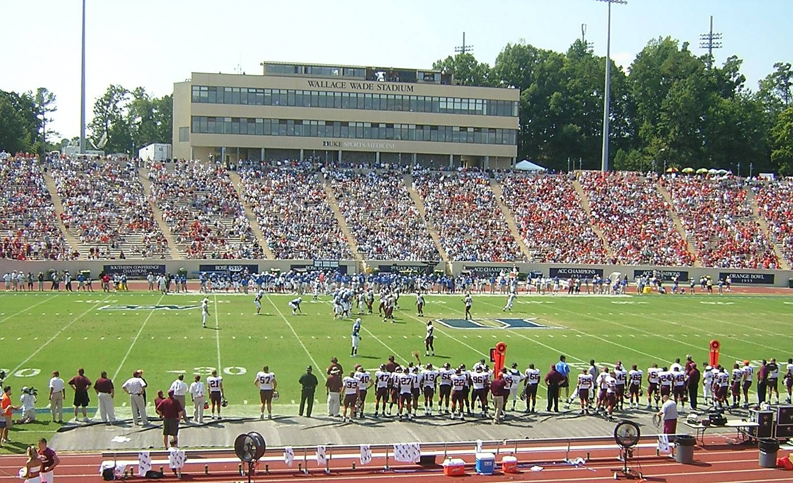 Duke university blue devils inside wallace wade stadium