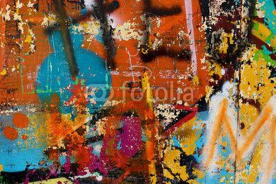 Graffiti sur un mur - détail d
