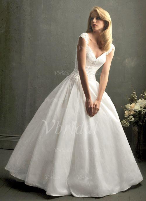 Brautkleider - $174.99 - Duchesse-Linie V-Ausschnitt Bodenlang Taft ...